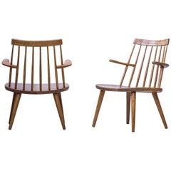 """""""Sibbo"""" Loungette Chairs by Yngve Ekström, Sweden, 1950s"""