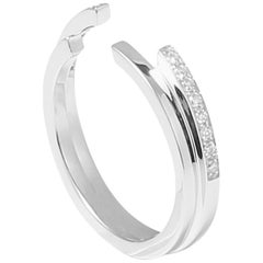 Sibylle von Münster Double Fragment Ring, White Gold 18 Karat Diamonds G VS2