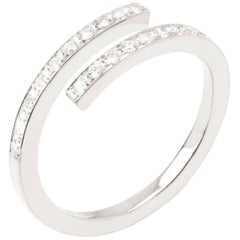 Sibylle von Münster Little Parallel Ring, White Gold 18 Karat Diamonds G VS2
