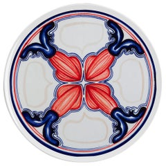 Sicilian Clay Hand Painted Colapesce Dinner Plate, Made in Italy