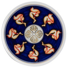 Sicilian Clay Hand-Painted Colapesce Dinner Plate, Made in Italy