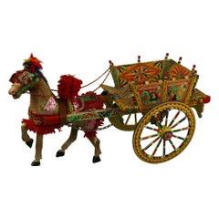 Sicilian Donkey Cart Model