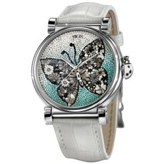 Beautiful Freedom Butterfly Watch Automatic Movement Silver 925%
