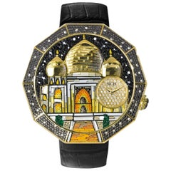 Grand Tour Watch White and Black Diamonds Micromosaic Automatic Movement