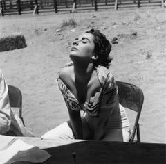 Elizabeth Taylor Sunning Herself on the Marfa, Texas Set of 'Giant'