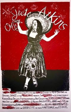 Columbus Ohio Jewish Artist Modern Lithograph Print Greta Atkins