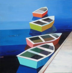 COLORFUL DAY WITH BOATS #19