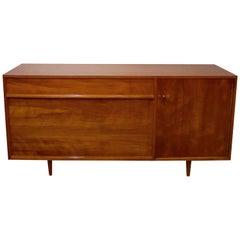 Side Cabinet Mid-Century Modern, Walnut Veneered