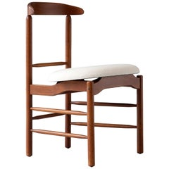 Side Chair in Walnut with Upholstered Seat by Great Magnusson Grossman