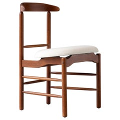Side Chair in Walnut w/ Upholstered Seat by Great Magnusson Grossman, circa 1952