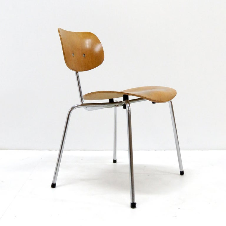 German Side Chairs by Egon Eiermann for Wilde & Spieth For Sale