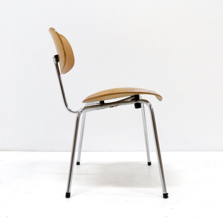 Side Chairs by Egon Eiermann for Wilde & Spieth In Good Condition For Sale In Los Angeles, CA
