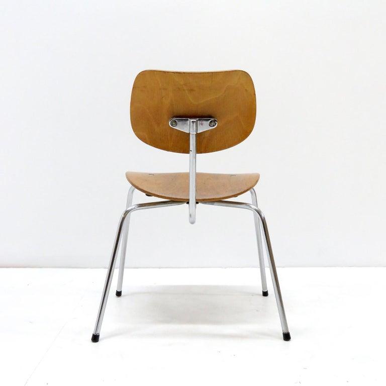 Steel Side Chairs by Egon Eiermann for Wilde & Spieth For Sale