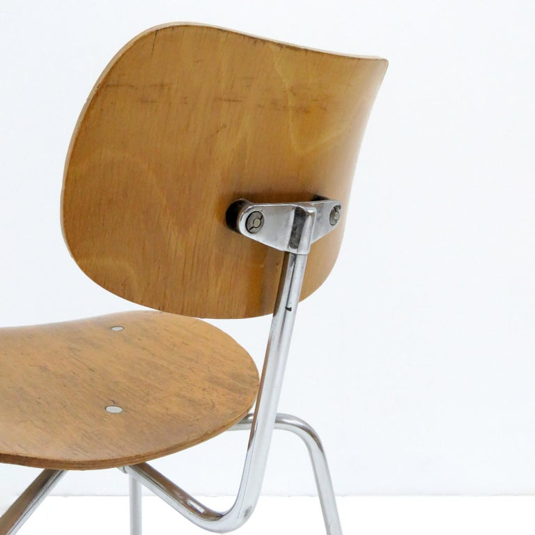 Side Chairs by Egon Eiermann for Wilde & Spieth For Sale 2