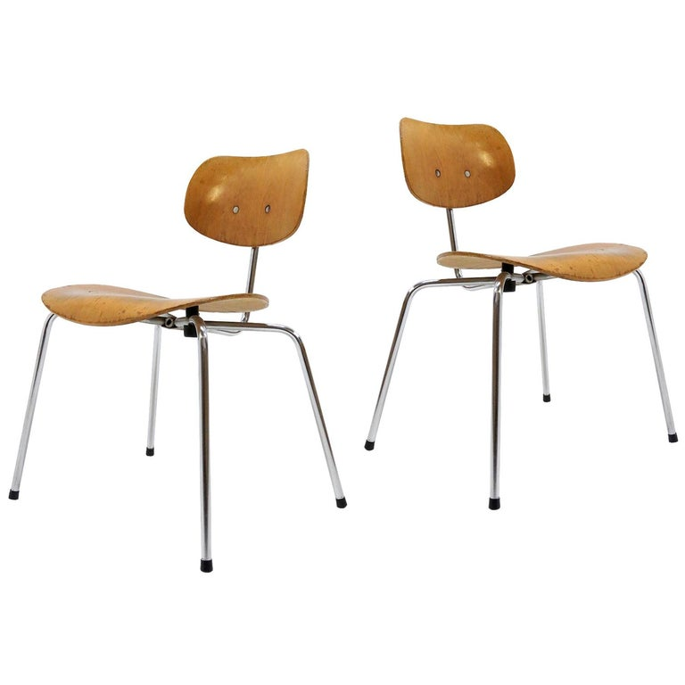 Side Chairs by Egon Eiermann for Wilde & Spieth For Sale