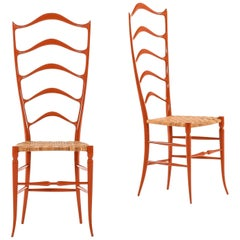 Side Chairs Probably Produced by Chiavari in Italy