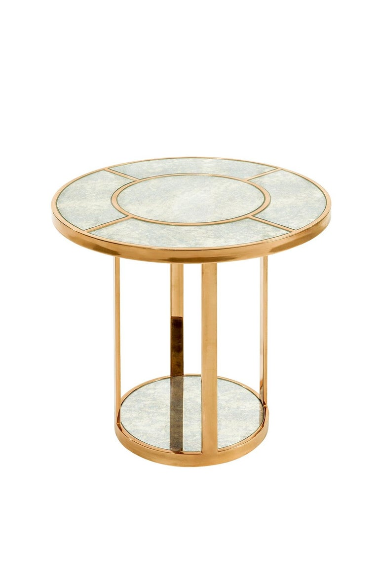 Turkish Side-Liner Table, Modern Art Deco Side or Coffee Table For Sale