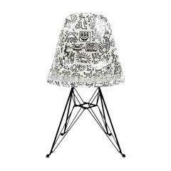 Side Shell Eiffel Chair 'Faces' after Keith Haring