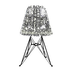 Side Shell Eiffel Chair 'Figures' after Keith Haring