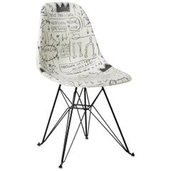 Side Shell Eiffel Chair 'Record' after Jean-Michel Basquiat