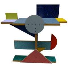 'Side Table 10' Side Table by Peter Shire, 1984