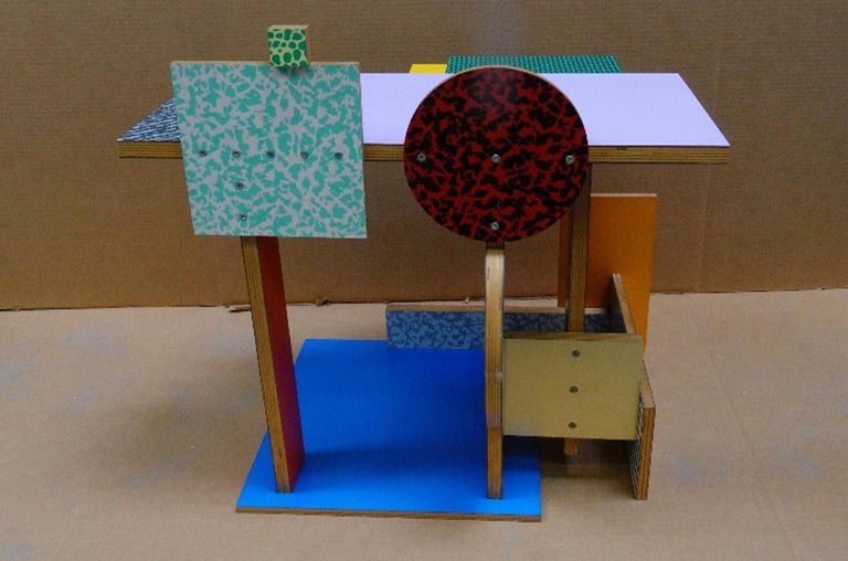 'Side Table 9' Side Table by Peter Shire, 1984 In Good Condition For Sale In LOS ANGELES, CA