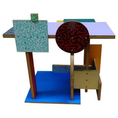 'Side Table 9' Side Table by Peter Shire, 1984