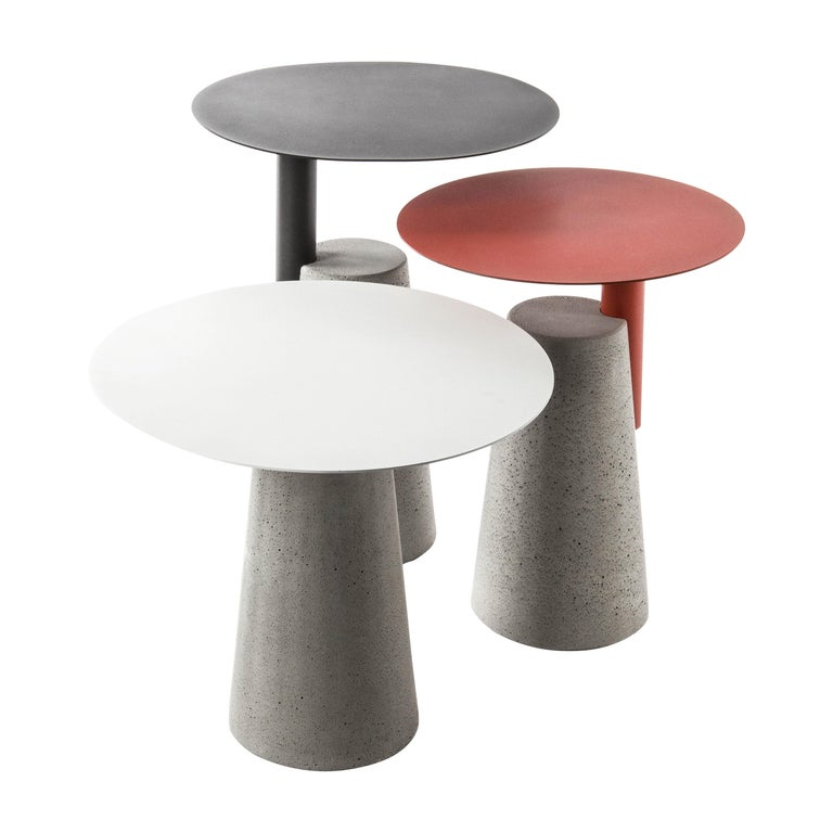 Side Table 'Bai' Made of Concrete and Steel '+Colors' '+Sizes' For Sale