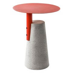 Side Table 'BAI' Made of Concrete and Steel 'Medium' '+colors'