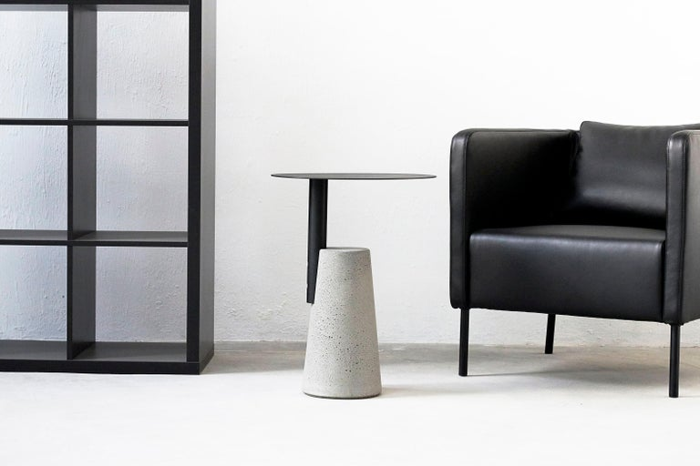 Chinese Side Table 'BAI' Made of Concrete and Steel 'Small' '+Colors' For Sale