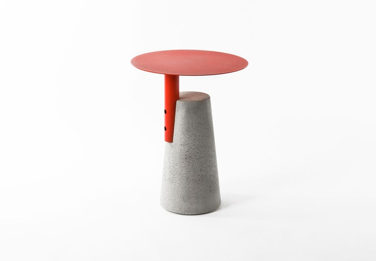 Side Table 'BAI' Made of Concrete and Steel 'Small' '+Colors' For Sale 3