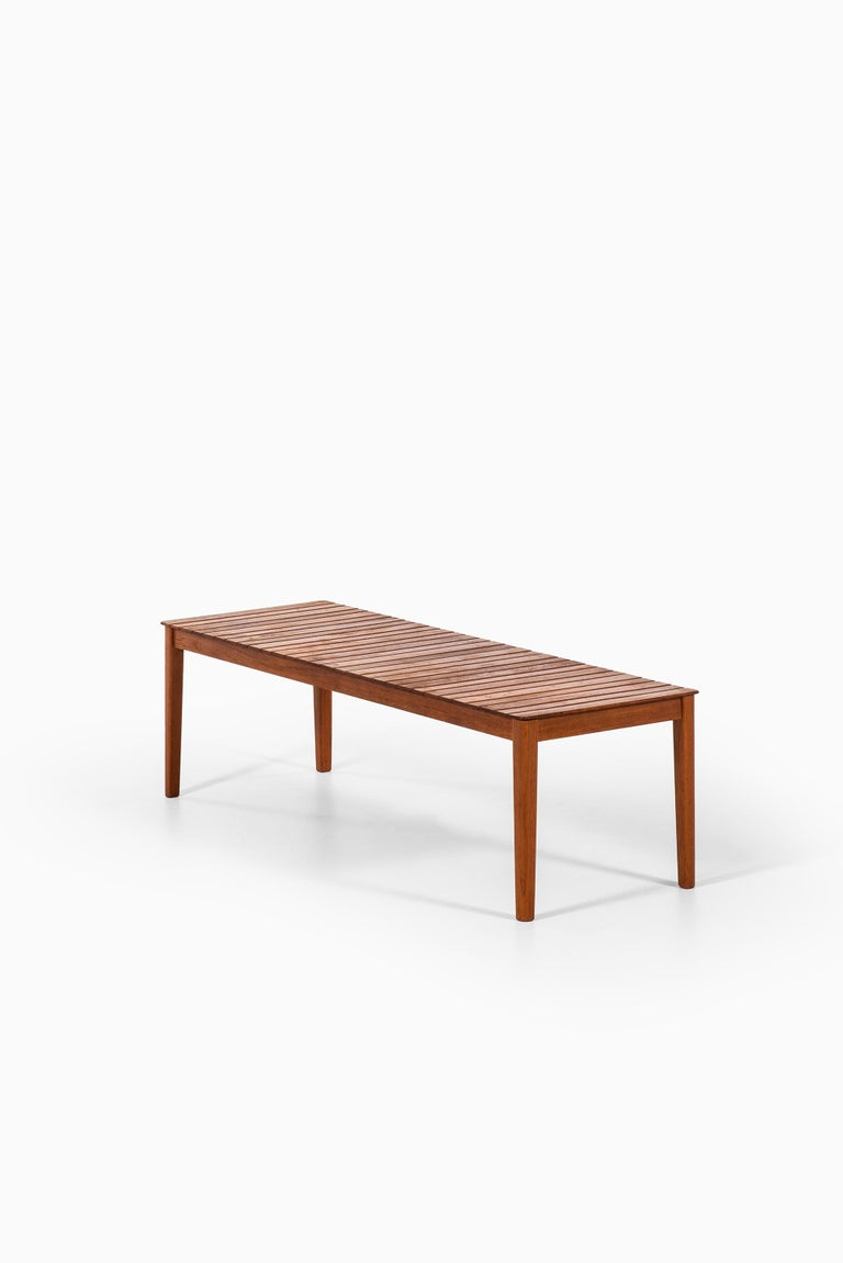Side Table or Bench in Solid Teak Produced by Alberts in Sweden For Sale 2