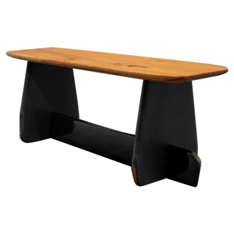 Side Table/Bench, Unique Daté Kan Stone Sculptural Design by Okurayama