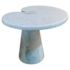 Side Table by Angelo Mangiarotti for Skipper Eros Series Carrara Marble, 1970s
