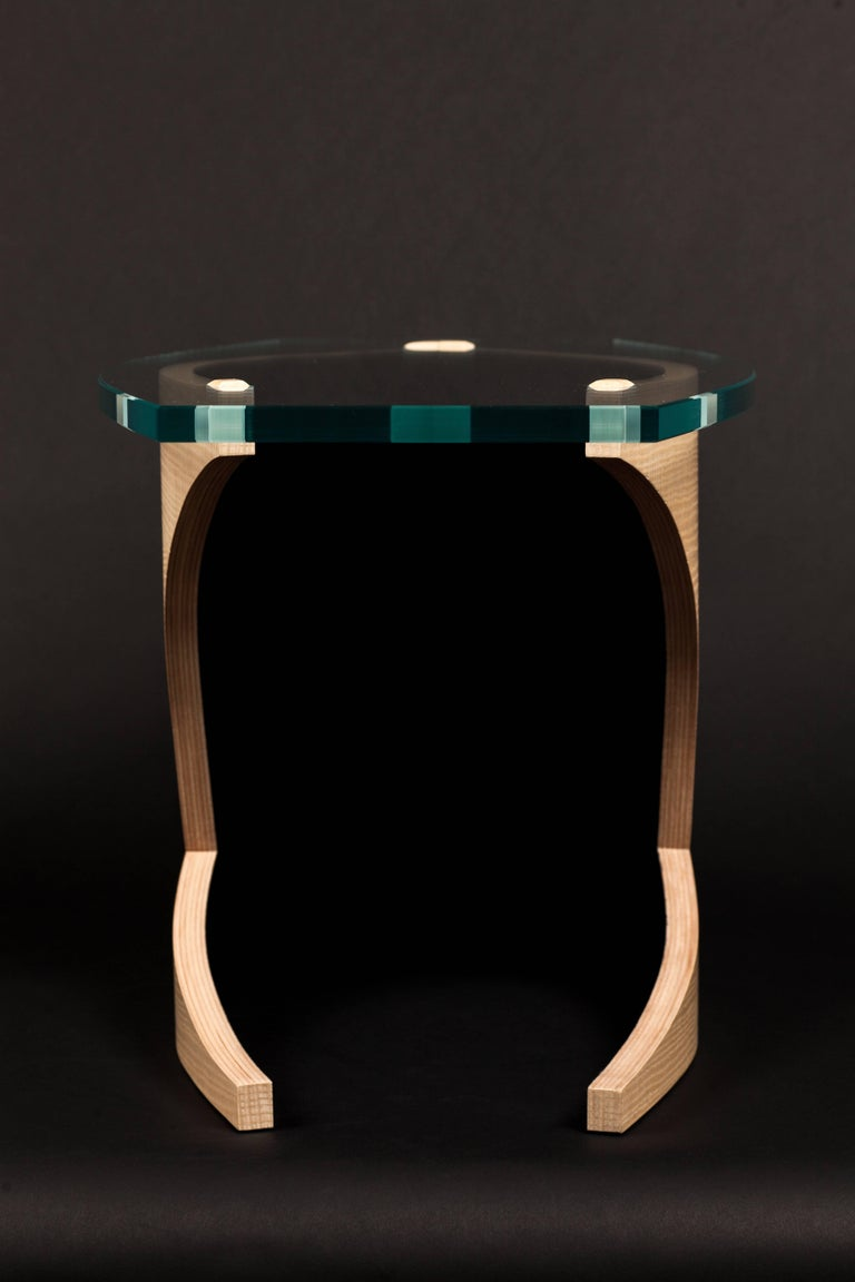 Hand-Crafted Side Table by Fred Rossi
