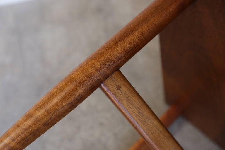 Walnut Side Table by John Nyquist For Sale