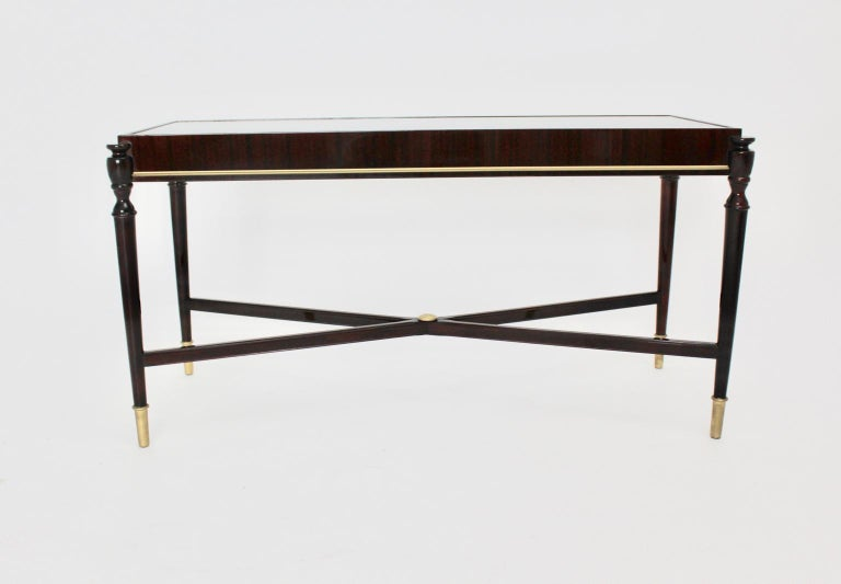 Mid-Century Modern Vintage Coffee Table Attributed to Paolo Buffa, Italy 1940s For Sale 5
