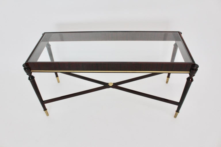 Mid-Century Modern Vintage Coffee Table Attributed to Paolo Buffa, Italy 1940s For Sale 1