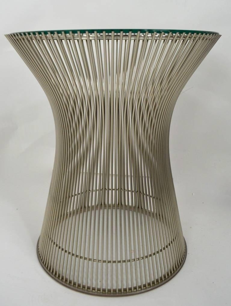 Glass Side Table by Platner For Sale