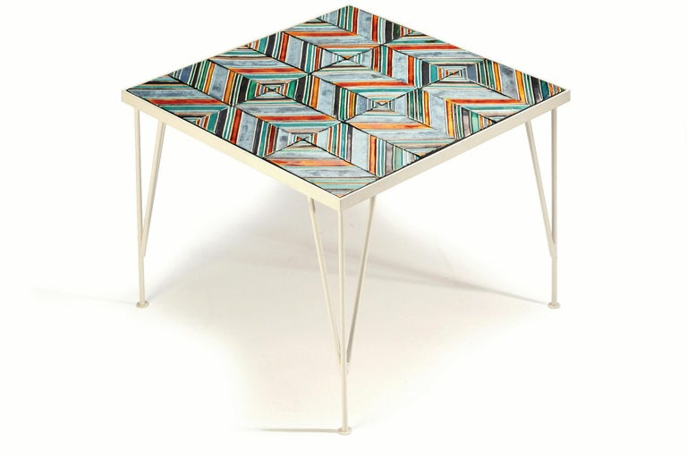Side Table Caldas Square with Portuguese Tiles 2