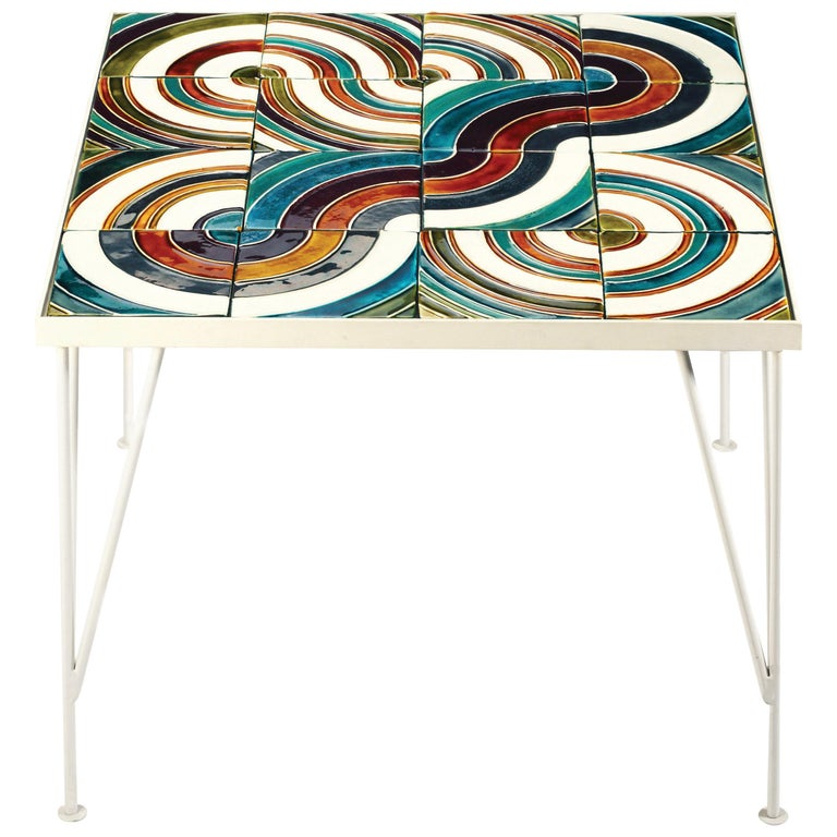 Side Table Caldas Square with Portuguese Tiles 1