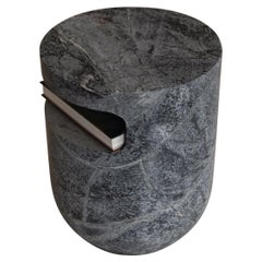 Side Table Carved in Massive Soapstone