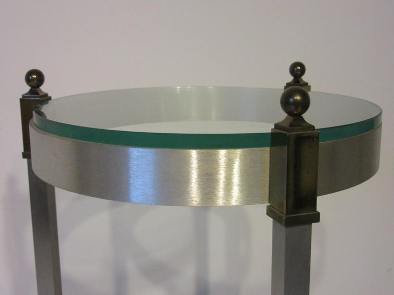 Mid-Century Modern Side Table or Cigarette Table in the Style of Maison Jansen For Sale