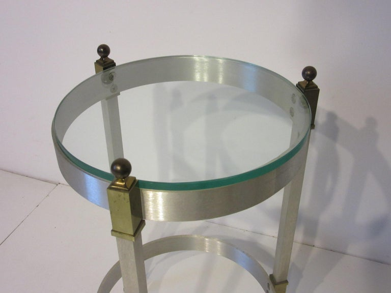Side Table or Cigarette Table in the Style of Maison Jansen In Good Condition For Sale In Cincinnati, OH