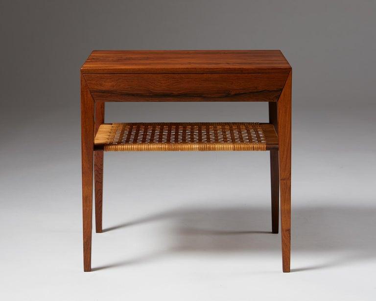 Mid-Century Modern Side Table Designed by Severin Hansen for Haslev Mobelfrabrik, Denmark, 1950s For Sale