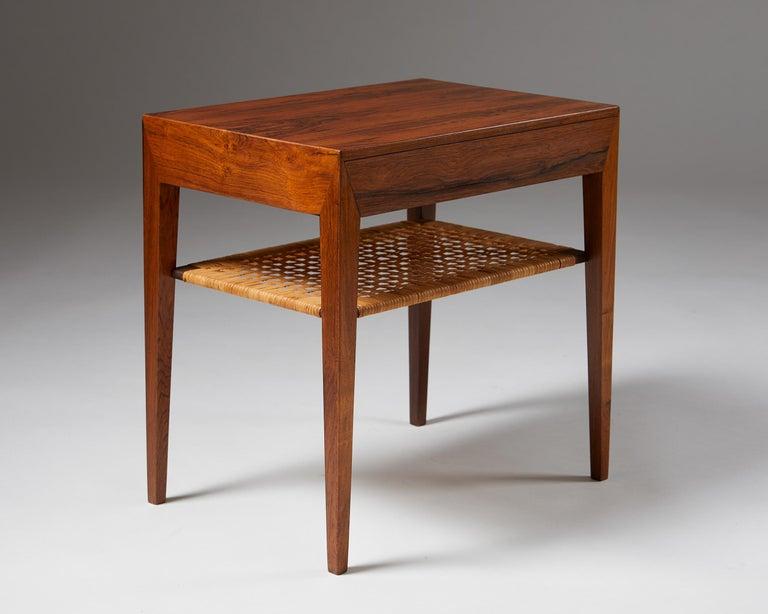 Danish Side Table Designed by Severin Hansen for Haslev Mobelfrabrik, Denmark, 1950s For Sale