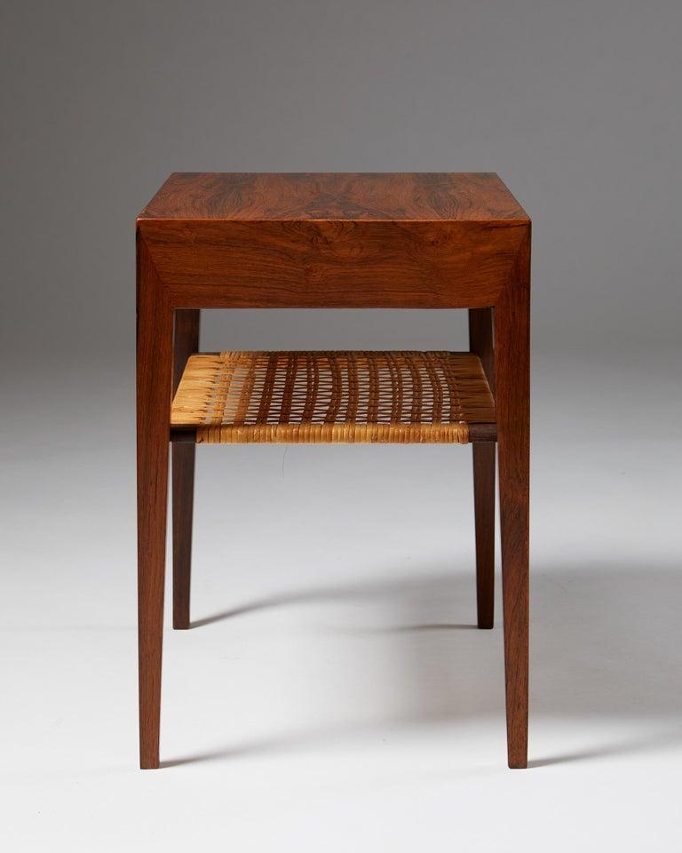 Side Table Designed by Severin Hansen for Haslev Mobelfrabrik, Denmark, 1950s In Good Condition For Sale In Stockholm, SE