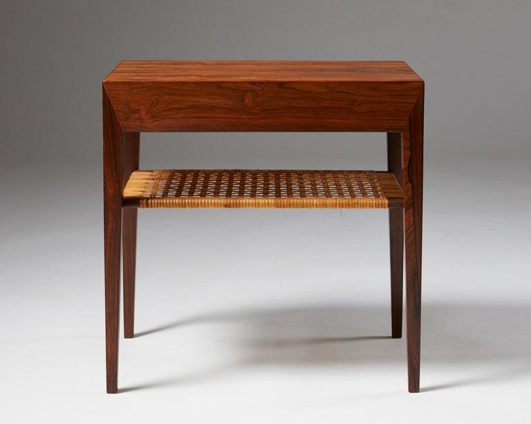 Mid-20th Century Side Table Designed by Severin Hansen for Haslev Mobelfrabrik, Denmark, 1950s For Sale