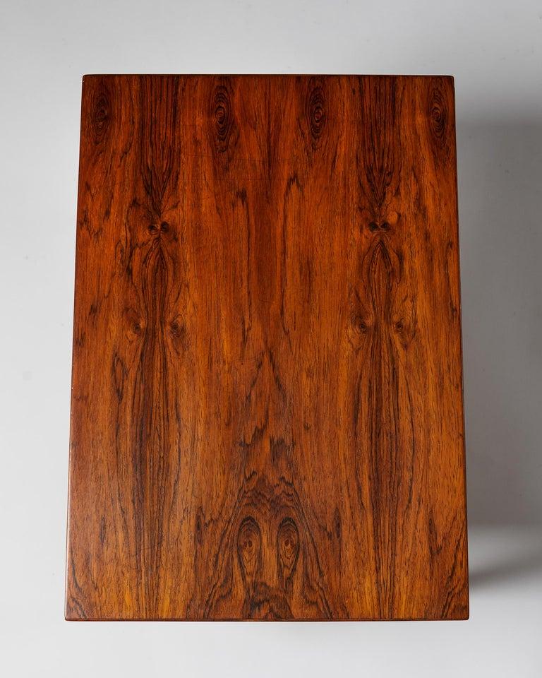Rosewood Side Table Designed by Severin Hansen for Haslev Mobelfrabrik, Denmark, 1950s For Sale