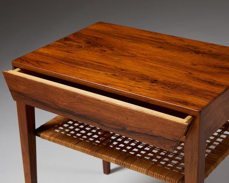 Side Table Designed by Severin Hansen for Haslev Mobelfrabrik, Denmark, 1950s For Sale 1